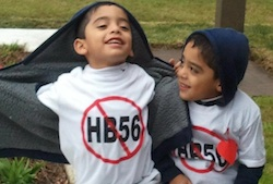kids at anti hb 56 rally